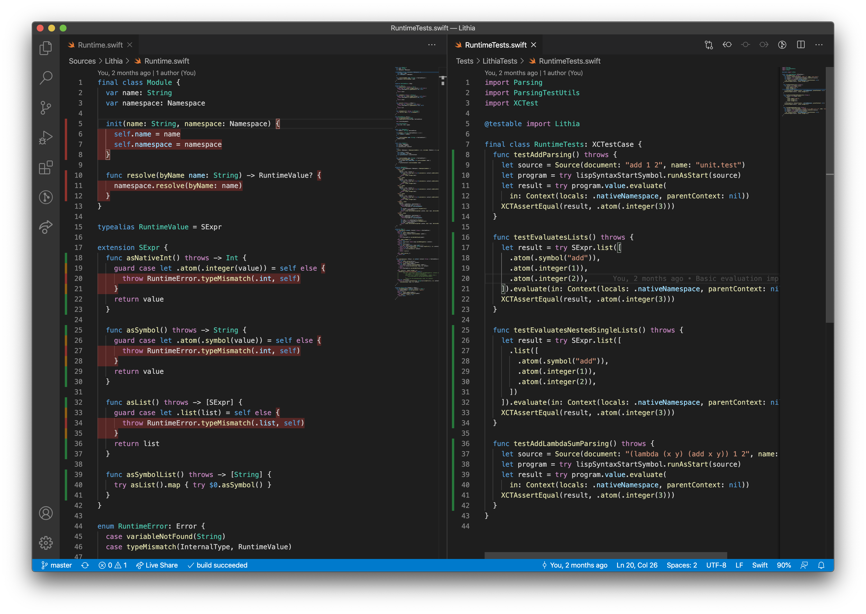 Code Coverage in VS Code with Swift Coverage